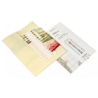"""1161-14 Набор для вышивания крестом """"Нежные цветы"""" (40х42 см)"""