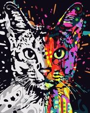 "РН-177 Картина по номерам ""Арт кот"" (40х50 см) на холсте"