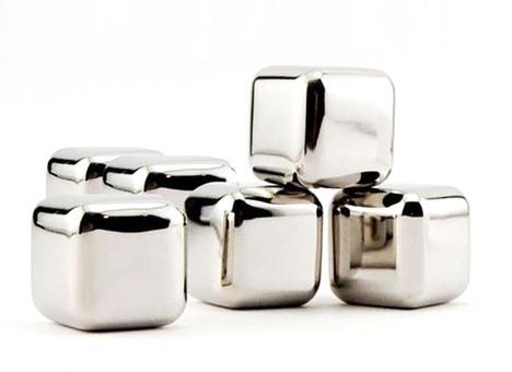 020-CR Охлаждающие кубики для напитков 6 шт (нержавеющая сталь)