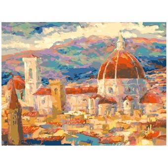 """034-AS Картина по номерам """"Дождь над Флоренцией"""" (30х40 см)"""
