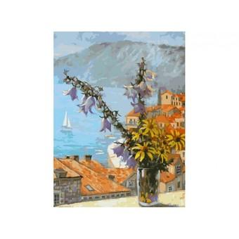 """059-AS Картина по номерам """"Букет с колокольчиками"""" (30х40 см)"""