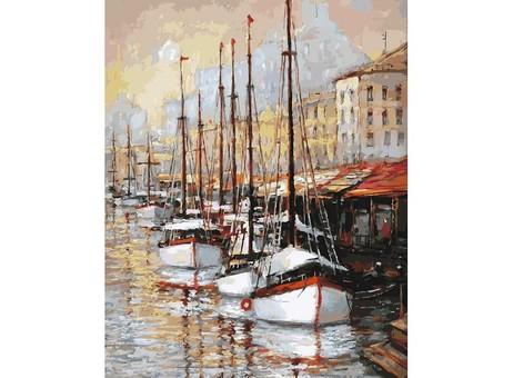 """080-AB Картина по номерам """"Летний вечер на юге Франции"""" (40х50 см)"""