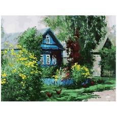 """091-AS Картина по номерам """"Домик в деревне"""" (30х40 см)"""