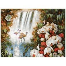 "188-АВ Картина по номерам ""Райский сад"" (40х50 см)"