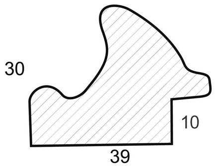 Багетная рама 1180-BL Irma (для работ размером 30*40 см)