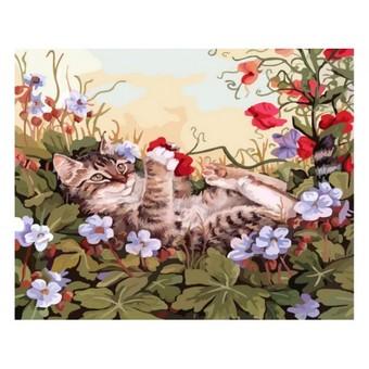 "103-AS Картина по номерам ""Кошкины забавы"" (30х40 см)"