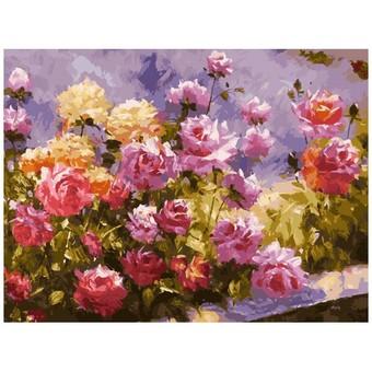 """110-AS Картина по номерам """"Букет роз"""" (30х40 см)"""