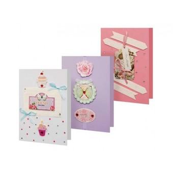 Наборы для создания 3-х открыток (27 вариантов)