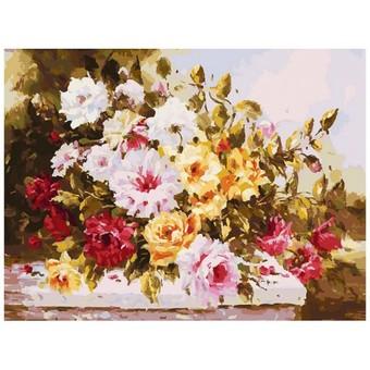 "112-AS Картина по номерам ""Чудесный букет"" (30х40 см)"
