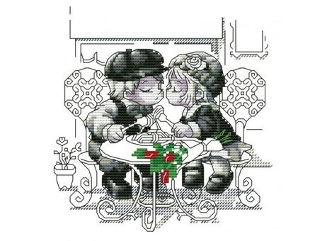 """359-14 Набор для вышивания крестом """"Тет-а-тет"""" (15х15,5 см)"""