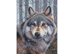 """200-14 Набор для вышивания крестом """"Волк"""" (27х36,5 см)"""