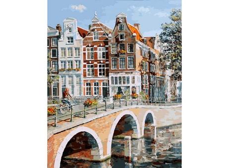 """117-AB Картина по номерам """"Императорский канал в Амстердаме"""" (40х50 см)"""