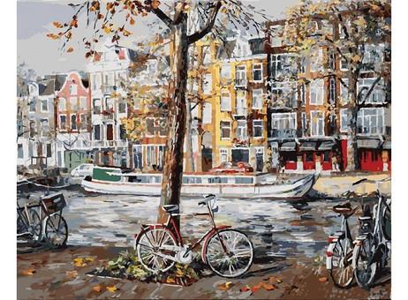 """118-AB Картина по номерам """"Осенний Амстердам"""" (40х50 см)"""