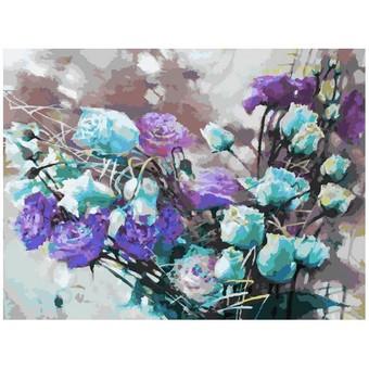 "121-AS Картина по номерам ""Ноктюрн с розами"" (30х40 см)"