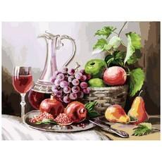 "129-AS Картина по номерам ""Натюрморт с фруктами"" (30х40 см)"