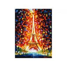 "3026-CS Картина по номерам ""Париж - огни Эйфелевой башни"" (29,5х39,5 см) на картоне"