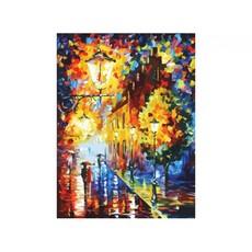 "3028-CS Картина по номерам ""Огни в ночи"" (29,5х39,5 см) на картоне"
