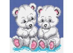 """019-ST-S Алмазная мозаика на подрамнике """"Медвежата"""" (20х20 см)"""