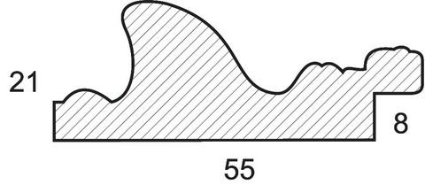 Багетная рама 1650-BL Karen (для работ размером 30*40 см)