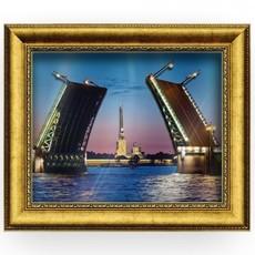 """153 Объемная картина (папертоль) """"Дворцовый мост"""""""