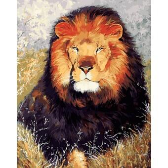 """154-AB Картина по номерам """"Царь зверей"""" (40х50 см)"""