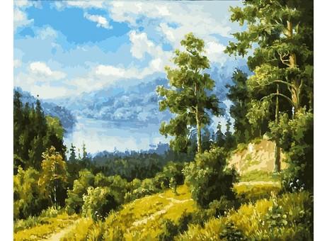 "166-AB Картина по номерам ""Лесной пейзаж"" (40х50 см)"