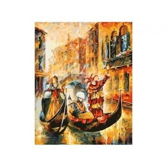 """187-АS Картина по номерам """"Венецианская гондола"""" (30х40 см)"""