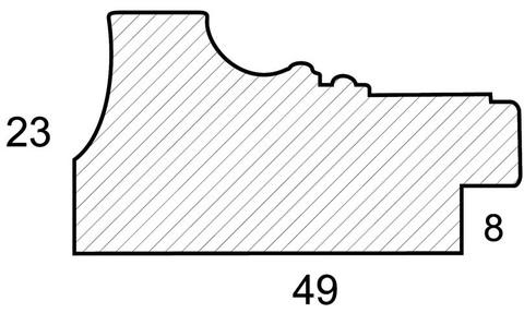 Багетная рама 1433-BL Bridget (для работ размером 30*40 см)