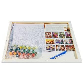 "192-АВ Картина по номерам ""Натюрморт с белой розой"" (40х50 см)"