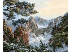 "196-AB Картина по номерам ""Китай. Хуаншань"" (40х50 см)"