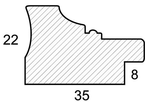 Багетная рама 1425-BL Wendy (для работ размером 30*40 см)