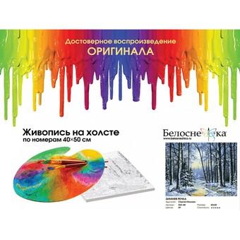 "204-AB Картина по номерам ""Зимняя речка"" (40х50 см)"