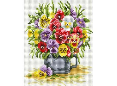 """419-ST-PS Алмазная мозаика в пакете """"Цветочное счастье"""" (20х25 см)"""