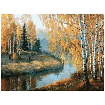 """3045-CS Картина по номерам """"Вот и осень пришла"""" (29,5х39,5 см) на картоне"""