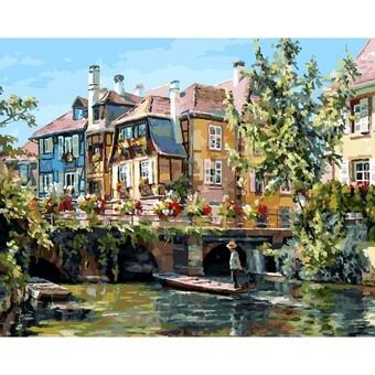 "224-AB Картина по номерам ""Франция. Кольмар"" (40х50 см)"