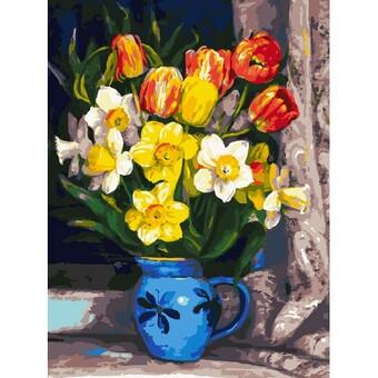 "229-AS Картина по номерам ""Тюльпаны"" (30х40 см)"