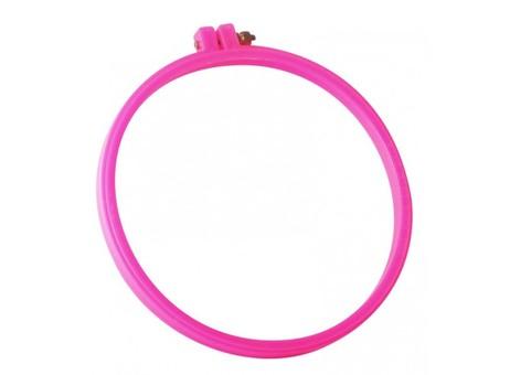 Пяльцы пластиковые D 23 см (розовые)