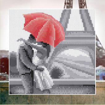 "БСА25-053 Алмазная мозаика ""Молодожены в Париже"" (25х25 см)"