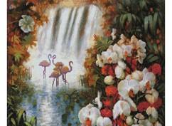 """209-ST-S Алмазная мозаика на подрамнике """"Райский сад"""" (40х50 см)"""