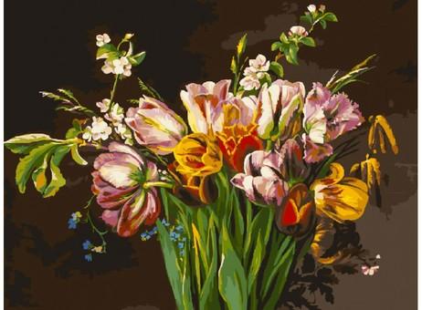 "261-AS Картина по номерам ""Голландские тюльпаны"" (30х40 см)"