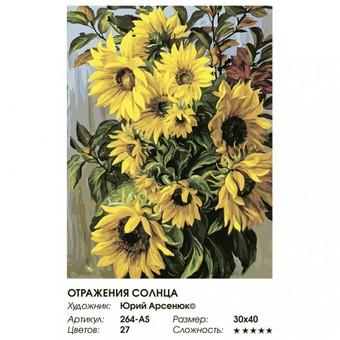 """264-AS Картина по номерам """"Отражения солнца"""" (30х40 см)"""