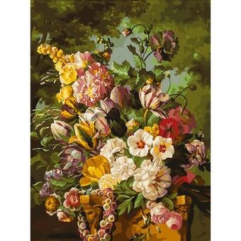 """265-AS Картина по номерам """"Букет в саду"""" (30х40 см)"""