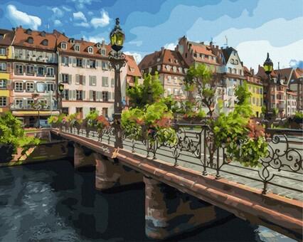 "DAB-25579 Картина по номерам ""Страсбург"" (40х50 см) на холсте"