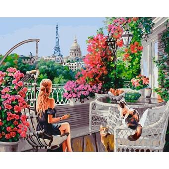 "277-AB Картина по номерам ""Парижанки"" (40х50 см)"