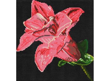 "6011-14 Набор для вышивания крестом ""Мерцающий цветок"" (20,7х21,6 см)"