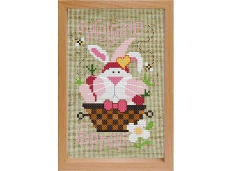"""201-EF Набор для вышивания с деревянной рамкой """"Кролик"""" (17х12 см)"""
