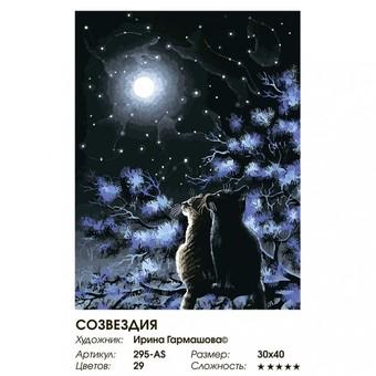 """295-AS Картина по номерам """"Созвездия"""" (30х40 см)"""