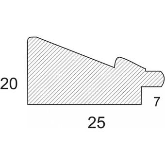 Багетная рама 3122-BM Mila (для работ размером 20*25 см)