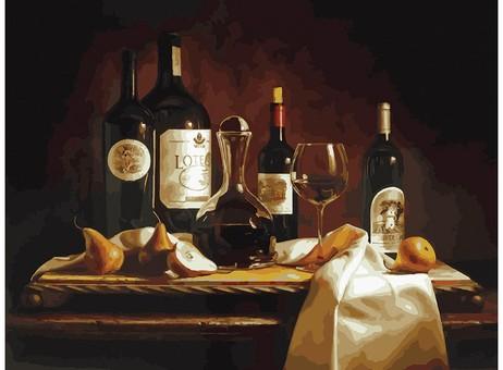 "317-AS Картина по номерам ""Вино и груши"" (30х40 см)"