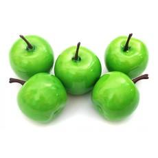 4612-SB Яблоки 3*3.5 см. 5 шт. зеленый